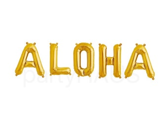 ALOHA Balloons, Aloha Banner, Aloha Letter Balloons, Luau Decorations, Luau Balloons, Pink Letter Balloons, Aloha, Luau, Hawaiian Party, Dec