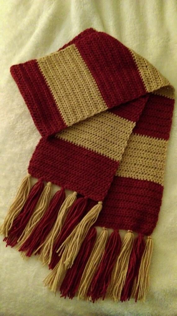Harry Potter Hufflepuff Scarf Knitting Pattern : Harry Potter Scarf Crochet Harry Potter Scaerf by KnottedMom