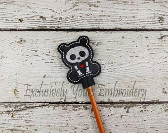 Panda Skellie Pencil Toppers - Party Favor - Valentine - Classroom Prizes - Easter - Skeleton - Small Gift - Back to School