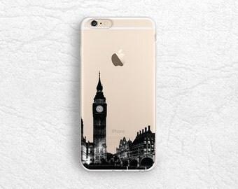 London City View iPhone 7 transparent case, Big Ben photo phone case for LG G6, Nexus 5x, Google Pixel, Nexus 6P, Samsung S6, S8 Plus -A14