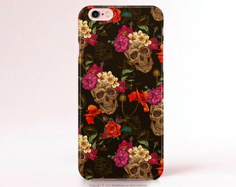 Skull iPhone 6s case Floral iPhone 6 case floral Note 5 Case Skull iPhone 6s Plus Case Sugar Skull iPhone 6 Plus case Samsung Galaxy S6 Case