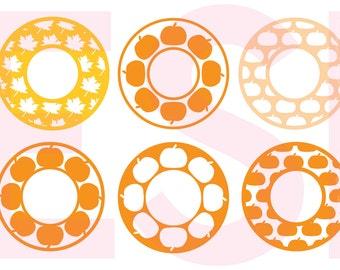 Pumpkin Monogram svg, Monogram svg Set, Fall svg, Autumn svg, SVG, DXF, EPS, cut files for Silhouette Studio and Cricut Design Space.