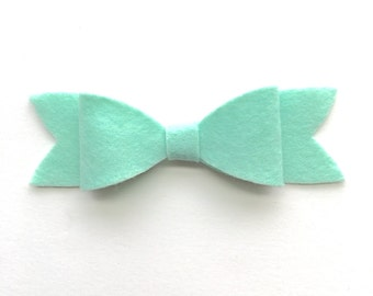 Mint felt bow