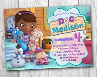 Doc McStuffins Invitation - Doc McStuffins Birthday Invitation - Doc McStuffins Party - Doc McStuffins Printables