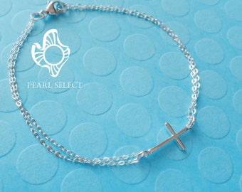 sterling silver cross bracelet,silver cross,cross bracelet,sterling silver cross bracelet,silver cross bracelet