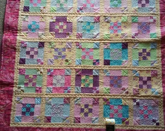 Bright and colorful baby Quilt