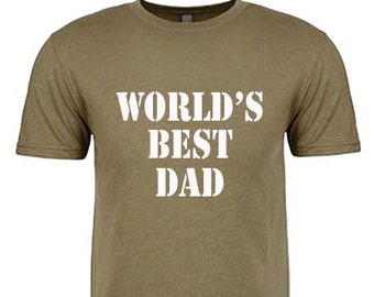 WORLDS BEST DAD Shirt Funny T Shirts Gift for Dad Gift for Husband Pregnancy Announcement Shirt New Dad Gift Christmas Gift for Dad Funny