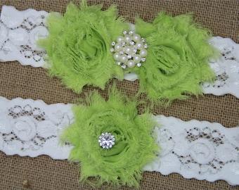 Wedding Garter,Bridal Garter Set,Keepsake Garter,Toss Garter,Ivory Lace Garter,Ivory Wedding Garter Belt -467