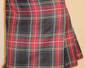 Black Stewart Ladies Kilt~Small to Plus Size~Parade Kilt~Highland game Wedding Hiking Kilt~Red Black Plaid~Custom make Red Black @sohoskirts