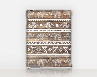 Tribal Elephant iPad Case For - iPad 2, iPad 3, iPad 4 and iPad Mini, Fine Art Hard Case