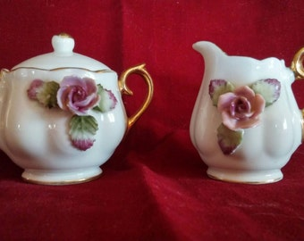 Sugar and creamer set.