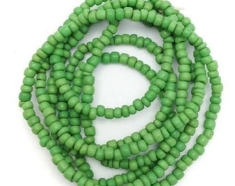 Maasaiperlen, Africa, green, 2mm, 1 strand, 58cm, a