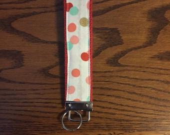 Fabric Key Fob~ Wristlet~ Fabric Key Chain