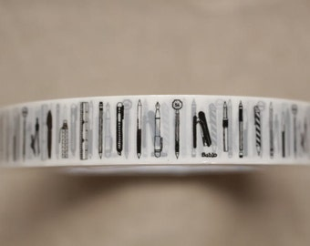 cute wrapping tape - stationery themed - 15mm x 25m