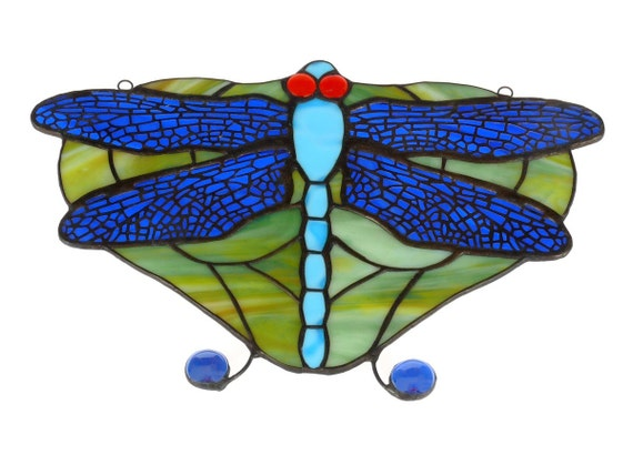 Stained Glass Suncatcher, Stained Glass Dragonfly, Dragonfly Suncatcher, Dragonfly Stained Glass, Window Hangings, Stained Glass Wall Art