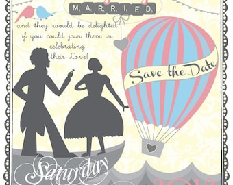 Vintage Love - Save the Date or Wedding Invite