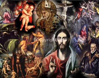 RELIGIOUS COLLAGE  PRINT