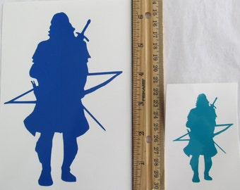 Vinyl Gamer RPG Car Window Decal Sticker Male Ranger Hunter Archer with Drawn Bow Silhouette Role Playing Game Gaming D&D Dungeons Dragons