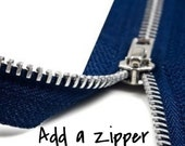 Add Zipper to Any Tote Bag - Zipper Add On
