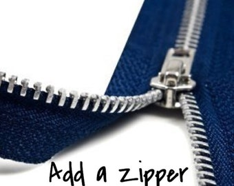 Add Zipper to Any Tote Bag - Zipper Add On