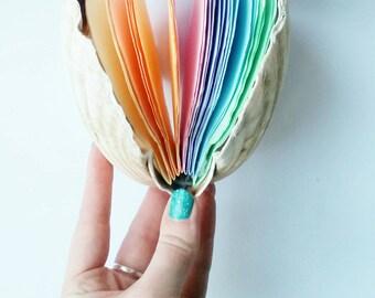Rainbow Mermaid Scallop Shell Notebook