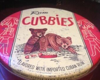 MOVING SALE SALE Rum cubbies vintage tin