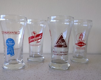 Vintage Beer Glasses from the Midwest USA