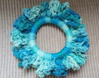 Crocheted Ruffled Ponytail Holder
