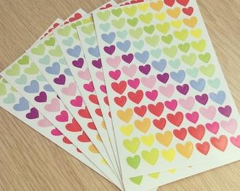 Heart sticker sheet