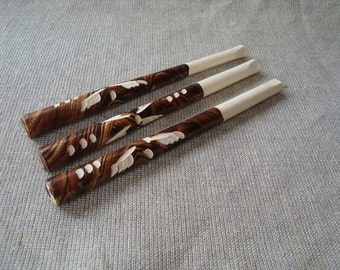 3 cigarette holders. Wooden smoking holder. Wood tobacco holder. Cigarette holder.
