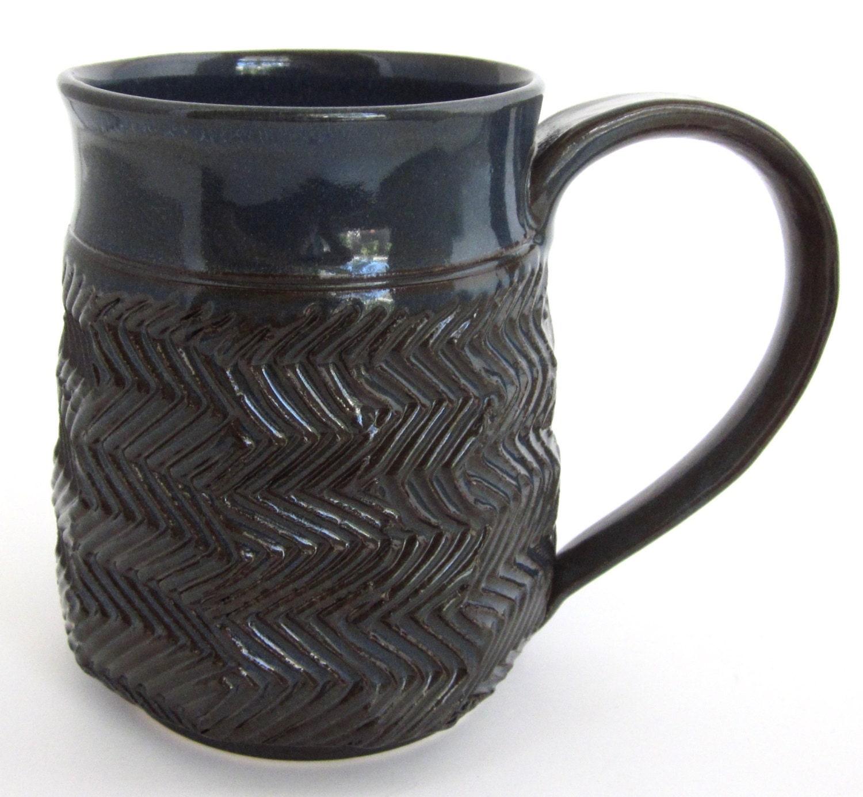 unique coffee mug unique coffee cup blue mug dark blue. Black Bedroom Furniture Sets. Home Design Ideas