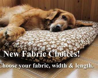 Flannel Easy On/Off Pet or Dog Bed Cover, Custom Size