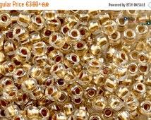 On Sale NOW 25%OFF TOHO 3/0 Round Beads - Gold-Lined Crystal [Tr-03-989],Japanese seed glass beads rocailles wholesale bulk toho 3 size kumi
