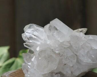 Raw Clear Quartz Crystal Cluster - Master Healer