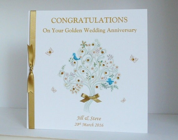 Personalised silver th wedding anniversary card £ craftfest