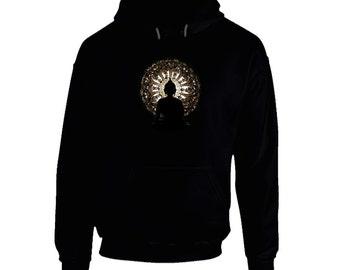 Buddah - Black Hoodie - spiritual, inspiration, positive, calm,