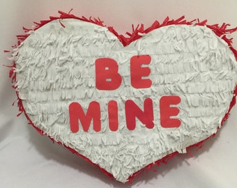 Be Mine Heart Pinata Valentine's Day Pinata Customize your own message