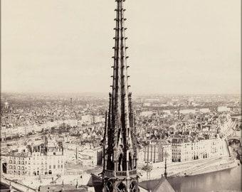 24x36 Poster . Notre Dame, Paris, France 1859