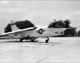 24x36 Poster . Vought F8U-1 Crusader At The Naca Langley 1956