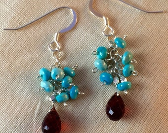 Blue Sky's Over Mozambique Sterling Earrings