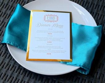 Sophisticated Wedding Dinner Menu