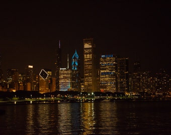 Chicago Night Reflections