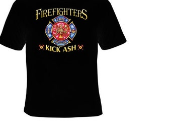 Firefighter t shirts etsy for Kicks on fire t shirt