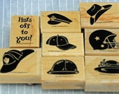 Stampin' Up Stamp Set, Hats Off to Heroes -- MINT, Long Retired, Scrapbooking, Cardmaking, Collage