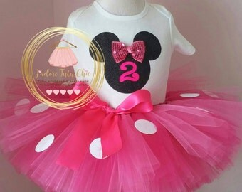 minnie mouse birthday outfit - minnie mouse birthday outfit - minnie mouse birthday theme - hot pink Minnie mouse theme