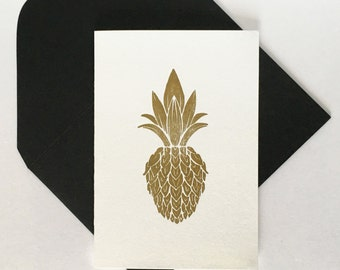Pineapple, Letterpress Card