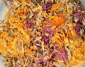 Red Clover, Calendula and Nettle Herbal Tea - Balancing Tea - Loose Leaf Tea - Tisane - Dried Flower Tea