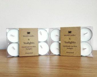 Handmade Eco Soy Tealights - Pack of 6