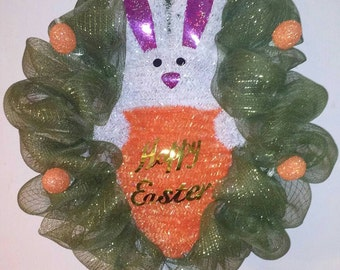 Happy Easter Deco Mesh Wreath