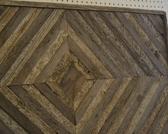 Barn Wood Wall Art 22 X 44 rustic with a flair of the chevron.